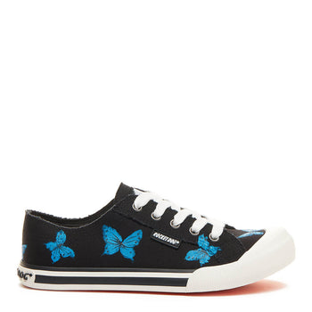 Jazzin Black Hand Painted Butterfly Trainer