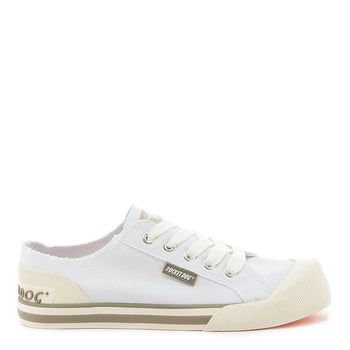 Jazzin White Canvas Trainer