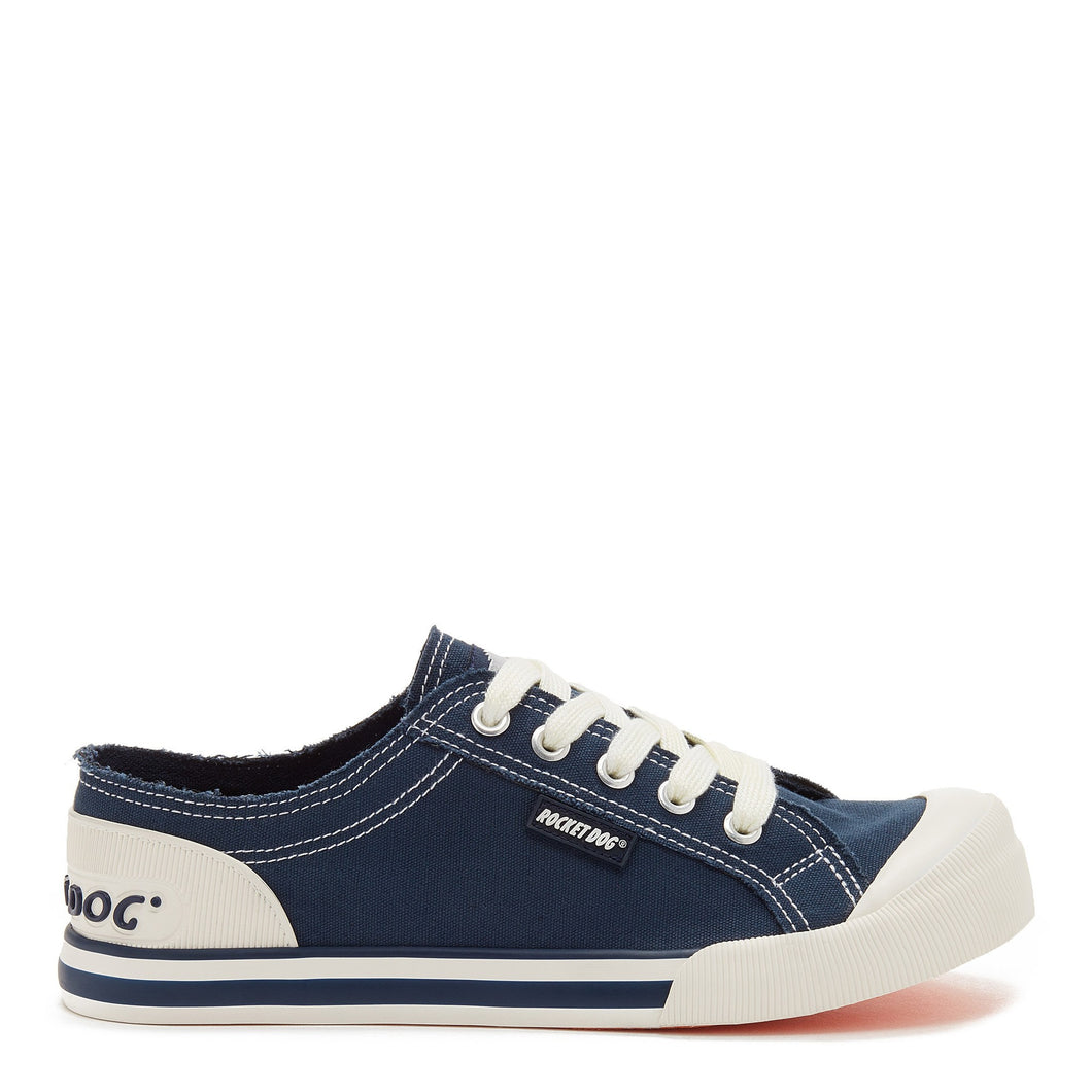 Jazzin Navy Canvas Trainer