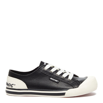 Jazzin Black Grainy Trainer