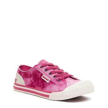 Rocket Dog Jazzin Hot Pink Tie Dye Trainer