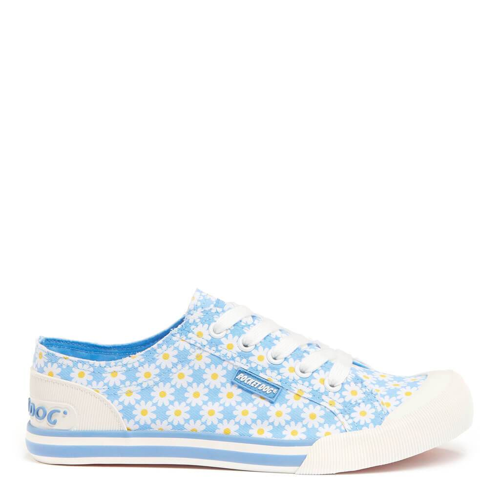Rocket Dog Jazzin Light Blue Daisy Trainer