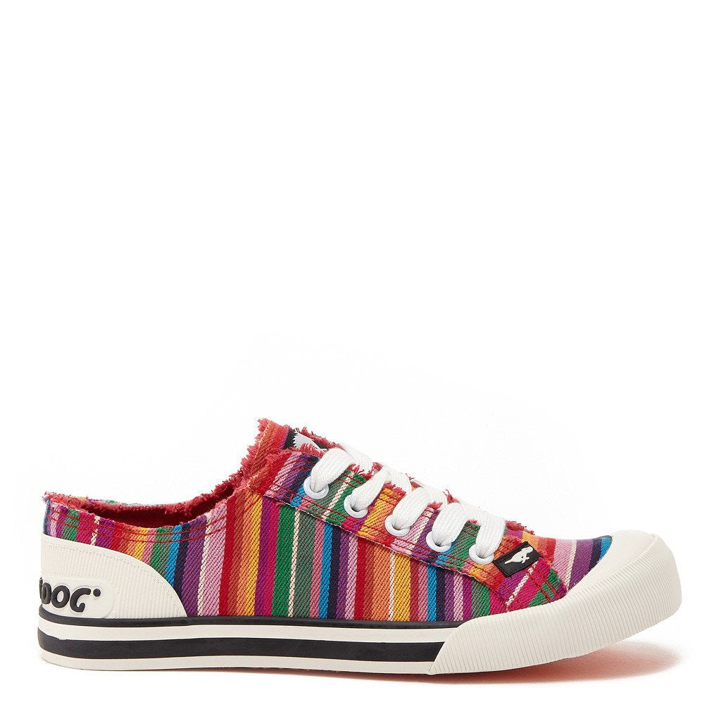 Jazzin Red Multi Stripe Trainer