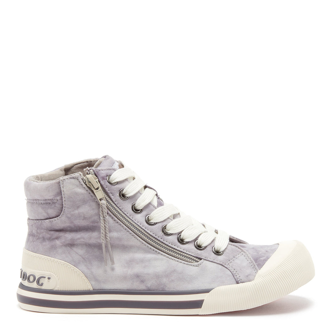 Jazzin Grey Tie-Dye High Top Trainer