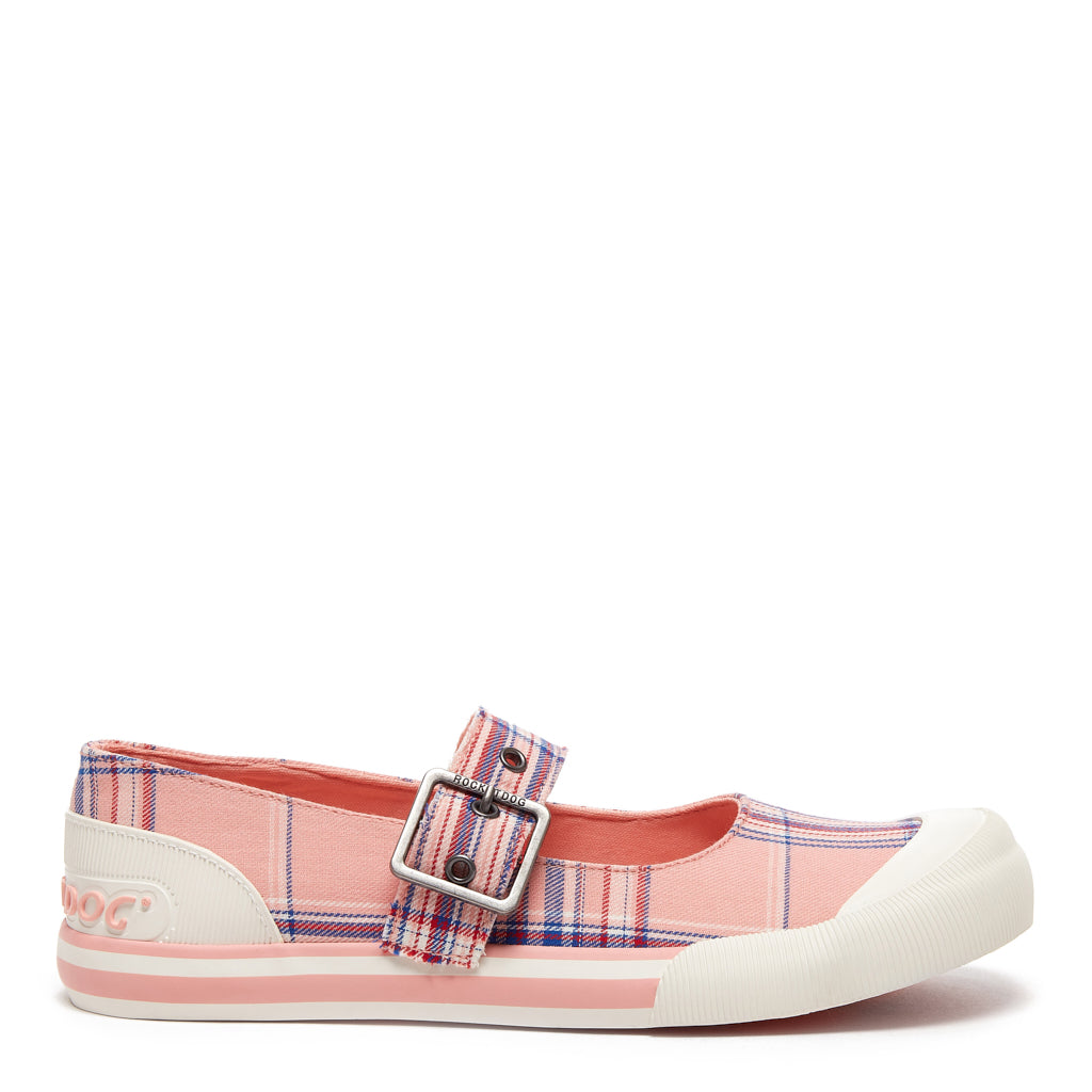 Jazzin Jane Myrtle Pink Check Trainer
