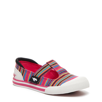 Jazzin J-bar Pink Aloe Stripe Trainer