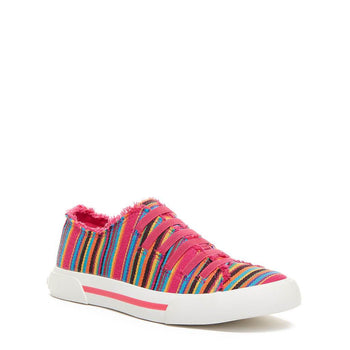Rocket Dog Jokes Pink Aloe Stripe Trainer