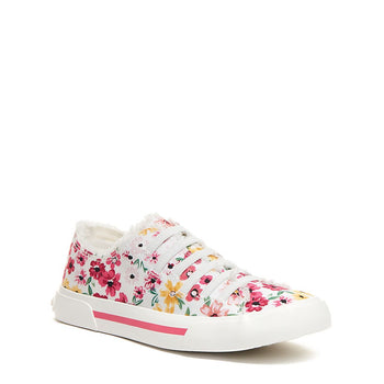 Rocket Dog Jokes Pink Floral Slip-On Trainer