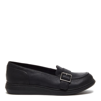 Marez Black Buckle Slip-on Shoe