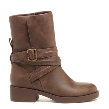 Prema Brown Biker Boot