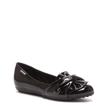 Risky Black Patent Slip On Shoes