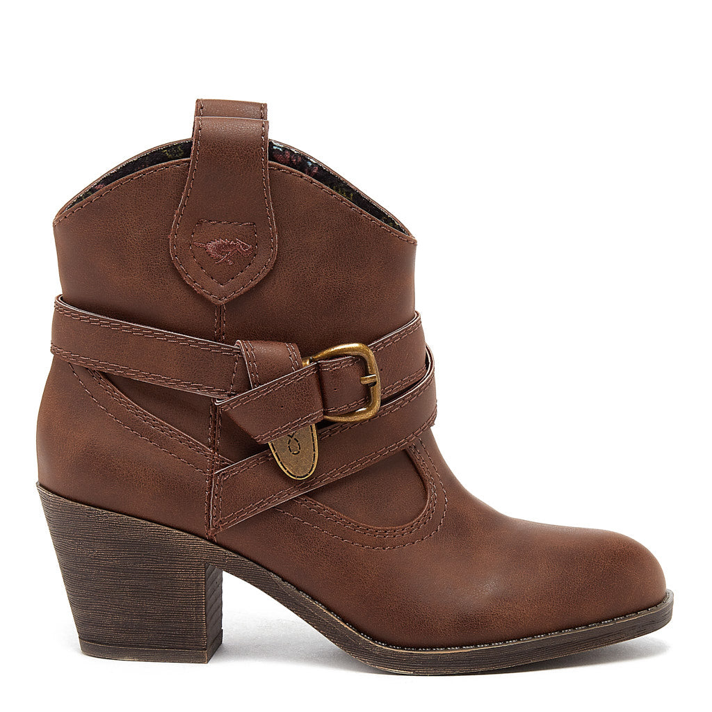 Satire Dark Brown Western Boot