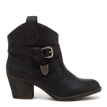 Satire Black Lewis Ankle Boot
