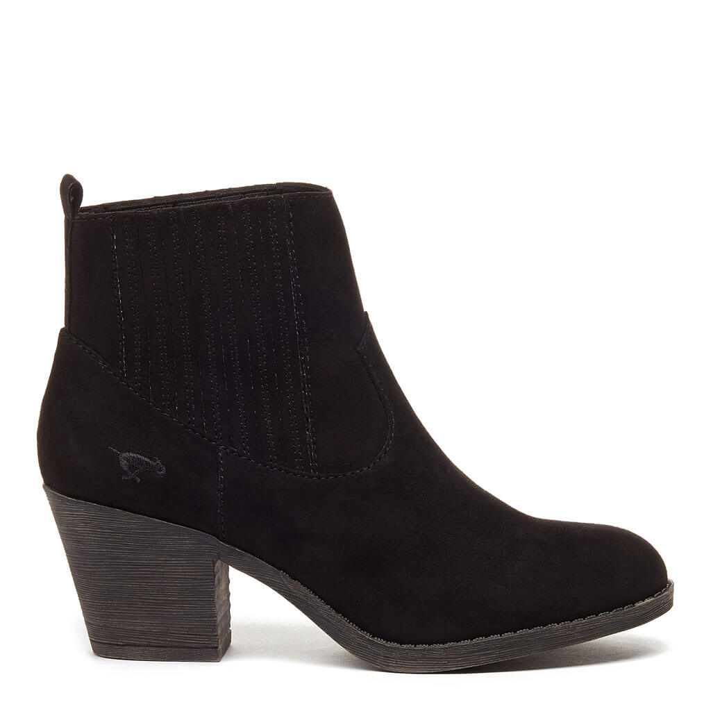 91b58046575 Shayne Black Heeled Ankle Boot