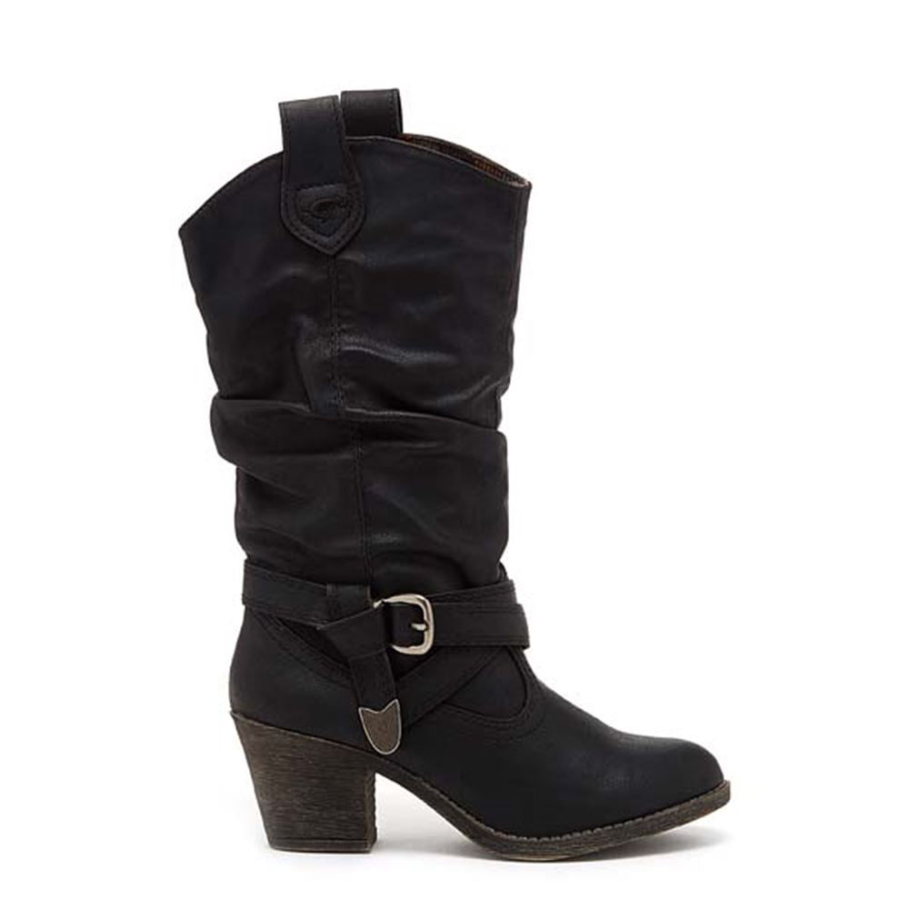 Sidestep Black Western Boots