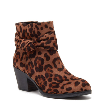 Silo Leopard Knot Ankle Boot