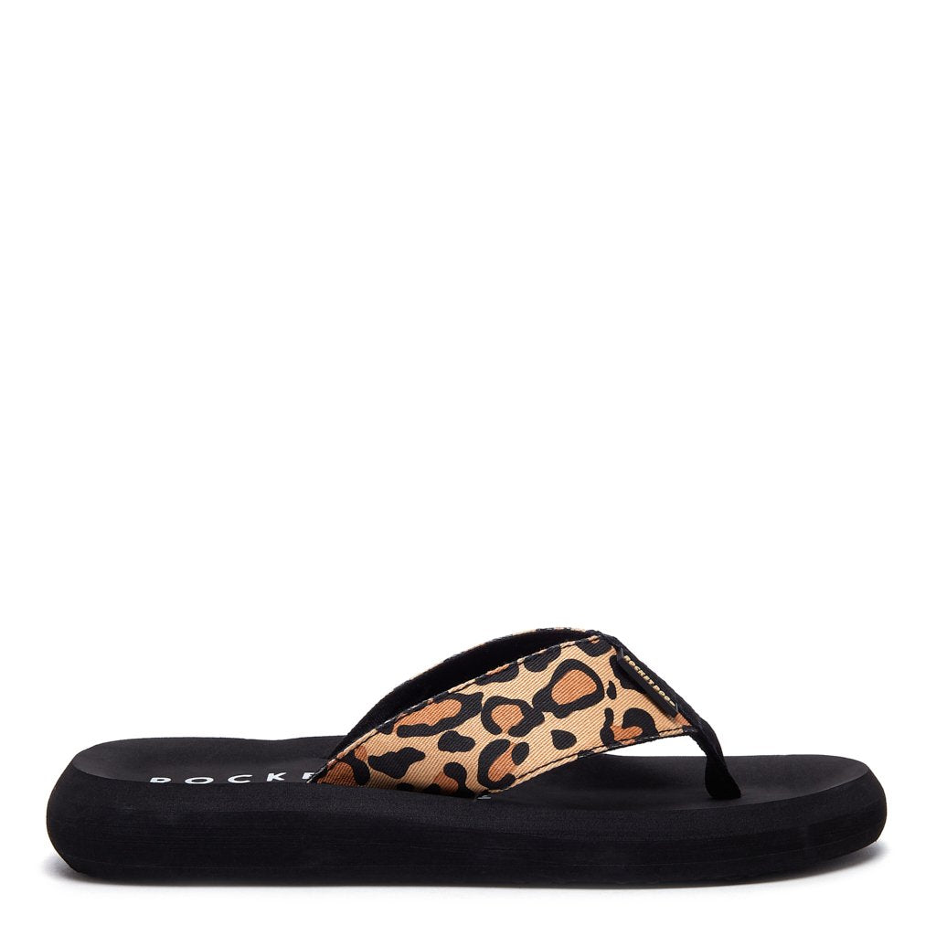 Spotlight Animal Print Flip-Flops