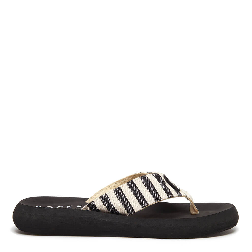 Spotlight Black and White Stripe Flip Flop