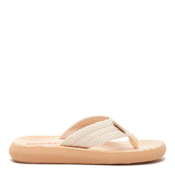 Sunset Cream Webbing Flip Flops