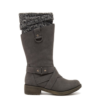 Telsa Charcoal Strap Boot