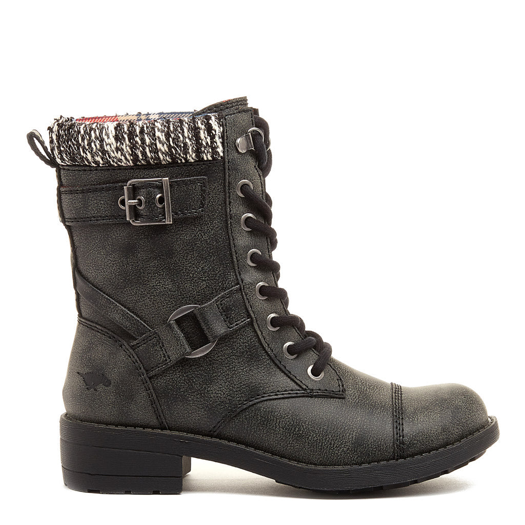 Thunder Black Biker Boot