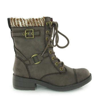 Thunder Brown Biker Boot