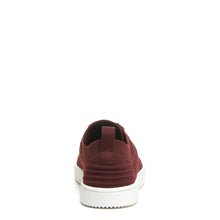 Tibor Burgundy Knitted Trainer