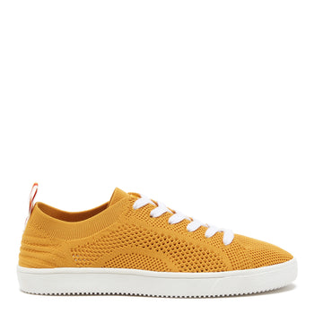 Tibor Yellow Knitted Trainer