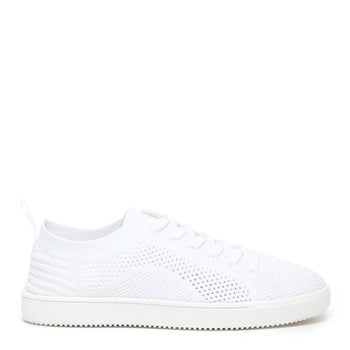 Tibor White Knitted Trainer