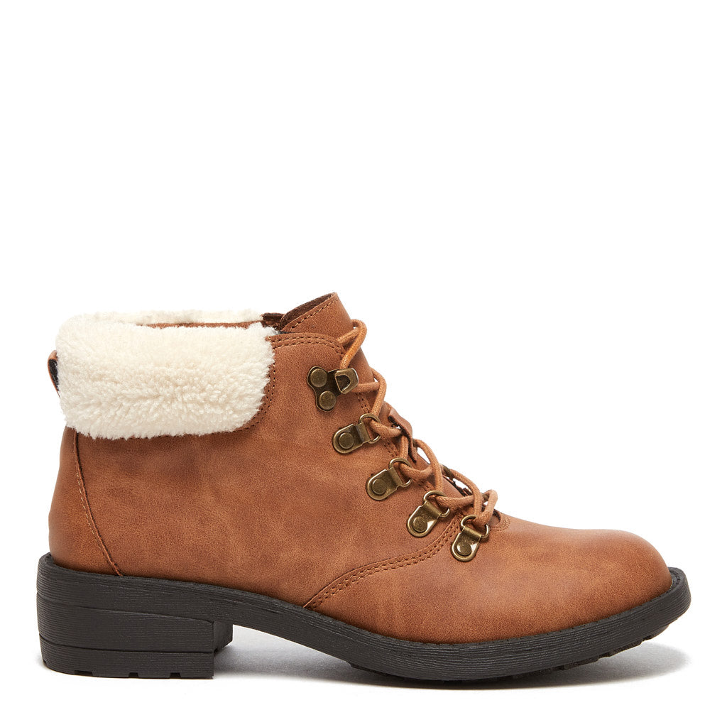 Train Tan Lace-up Ankle Boot