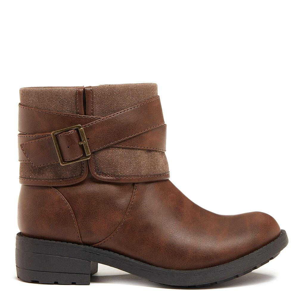 Trepp Brown Cotton / PU Winter Boot