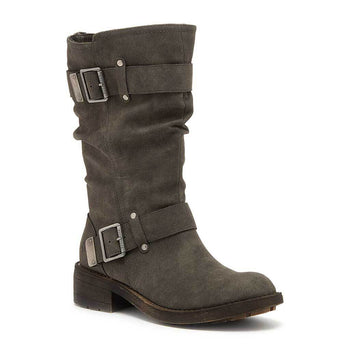 Trumble Faded Black Biker Boot