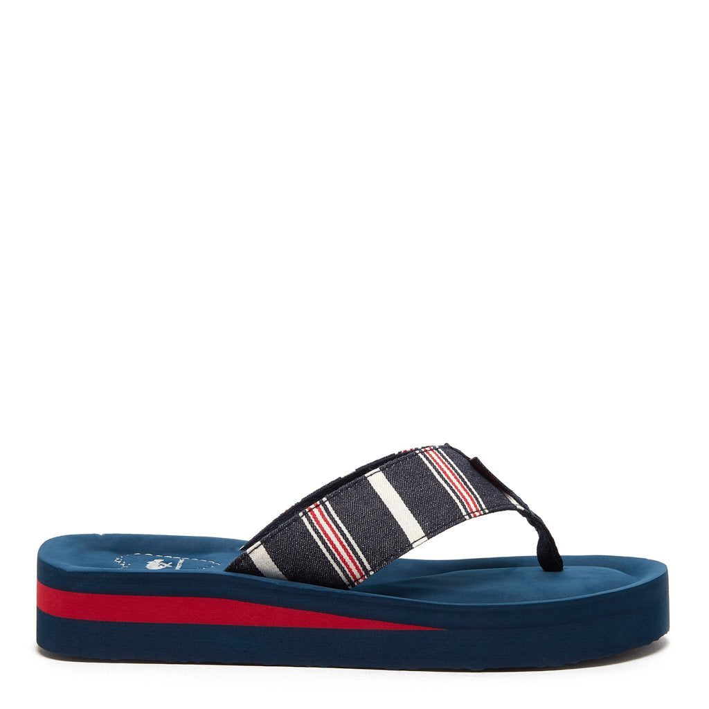 Winner Navy Stripe Flip-Flops