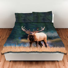Bugling Bull Elk — Duvet Cover, King or Queen