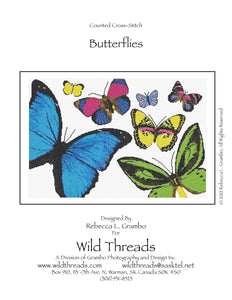 Butterflies Counted Cross Stitch Pattern PDF