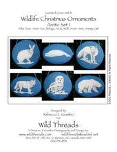 Wildlife Christmas Ornaments -- Arctic Set I Counted Cross Stitch Pattern PDF