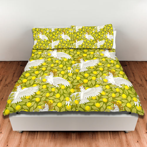 Oooh, Cockatoo! — Duvet Cover, King or Queen