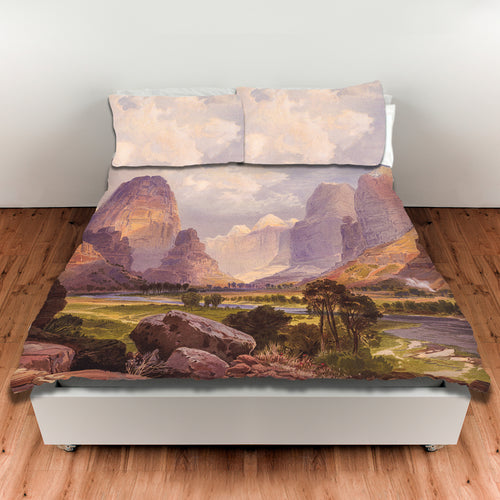 Moran Valley of the Bubbling Waters — Duvet Cover, King or Queen
