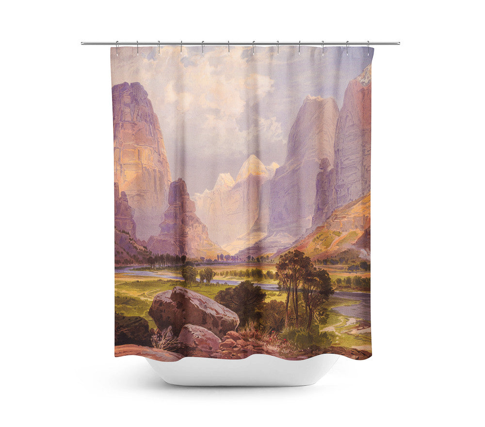 Moran Valley of the Bubbling Waters — Shower Curtain