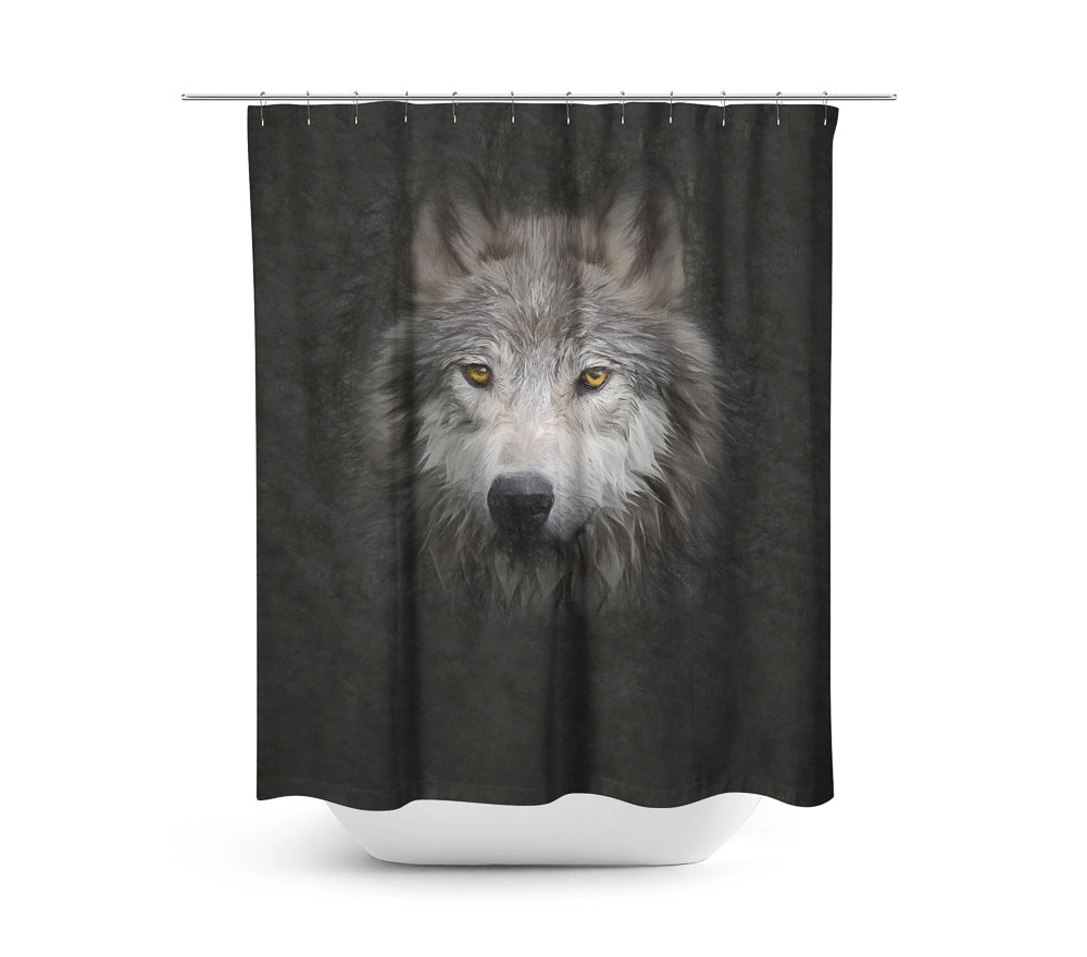 Wolf Face — Shower Curtain