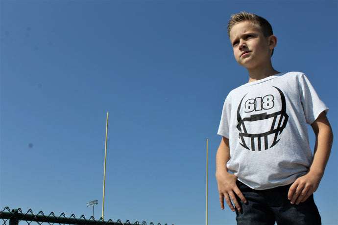 Youth 618 Football Tee