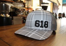 Gray Plaid Hat