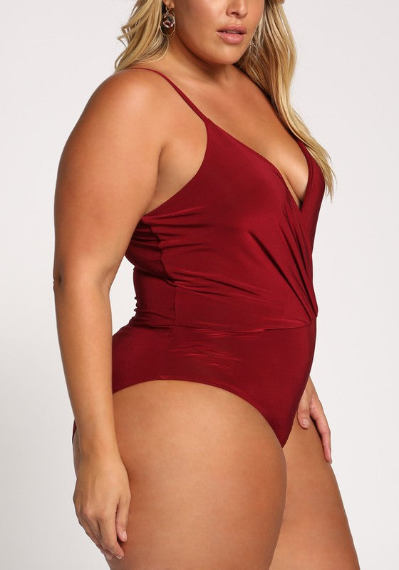 Red Deep V Bodysuit