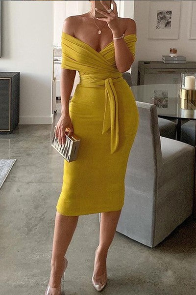 Yellow Multi-Way Skirt Set