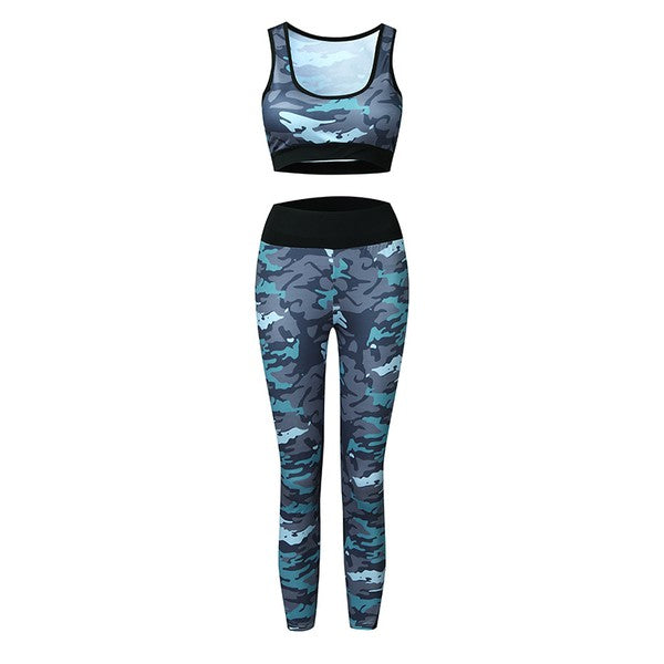 Navy Camo 2 Piece Active Set
