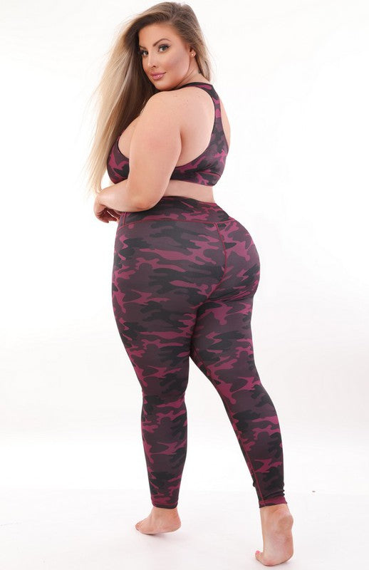 Pink Camo 2 Piece Activewear Set