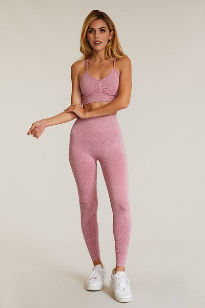 Pink Two-Piece Yoga Set