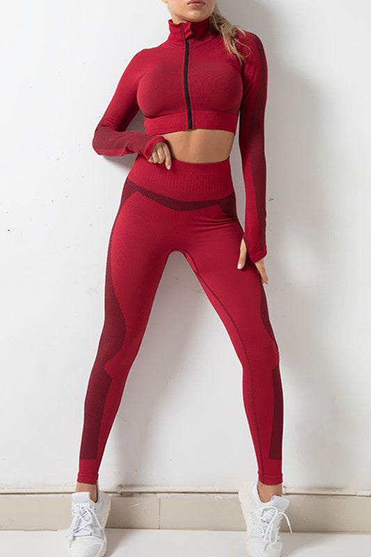 Red 2 piece Activewear Set