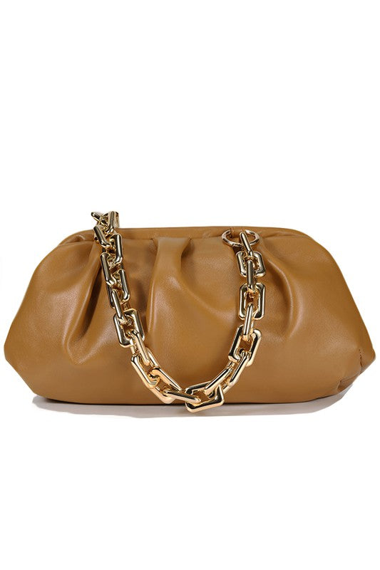 Chunky Chain Link Clutch Bag