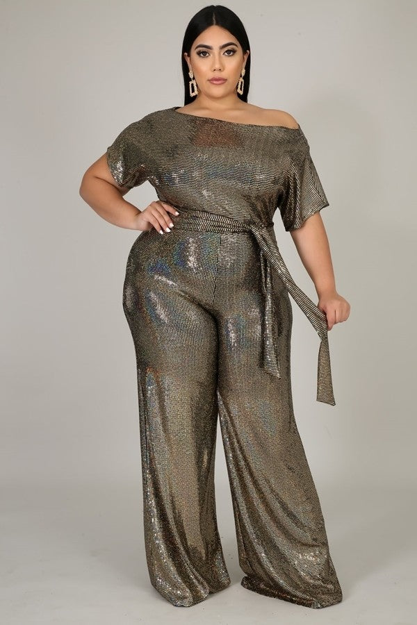 Gold Metallic Jumpsuit